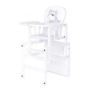 Borovicová židlička Drewex Antonín Medvídek s hvězdičkou bílá