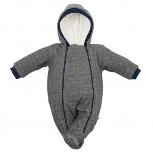 Zimní kojenecká kombinéza s kapucí Baby Service Retro šedá
