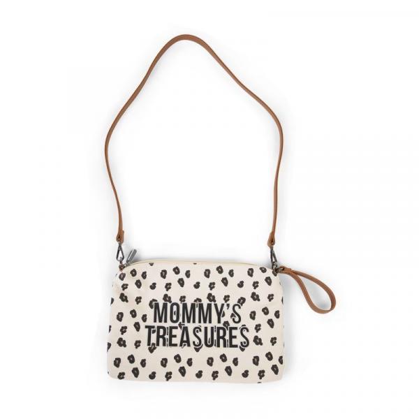 Pouzdro na zip s poutkem Canvas Leopard