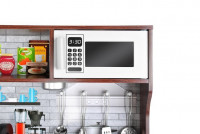 Dětská dřevěná kuchyňka s příslušenstvím XXL hnědá