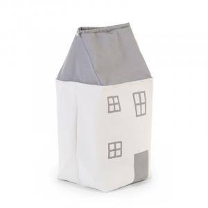 Box na hračky Dům Grey Off White