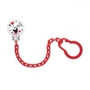 Řetízek na šidítko NUK Disney Mickey červený