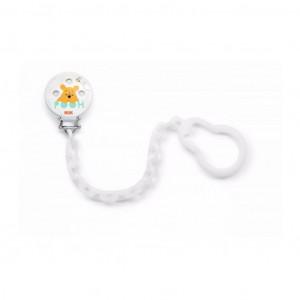 Řetízek na šidítko NUK Disney Medvídek PÚ bílý