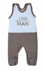 Mamatti Kojenecké bavlněné dupačky Little Man, vel. 68