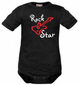 Body krátký rukáv Dejna Rock Star - černé, vel. 80